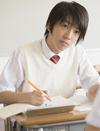 写真:男子中学生